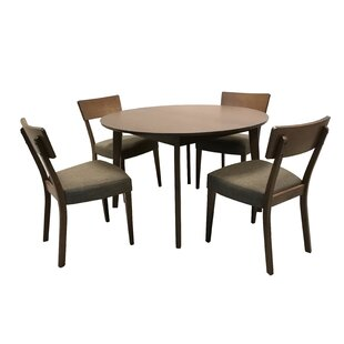 Crompton 5 Piece Extendable Solid Wood Dining Set ByGeorge Oliver