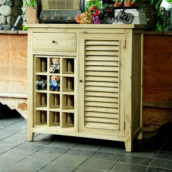 Luther 1 Drawer Shutter Accent Cabinet by Antique Revival