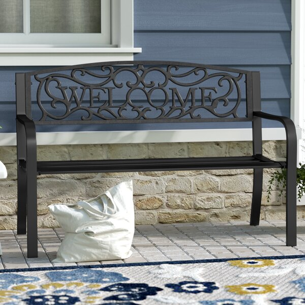 Stanardsville Welcome Vines Decorative Steel Garden Bench By Fleur De Lis Living
