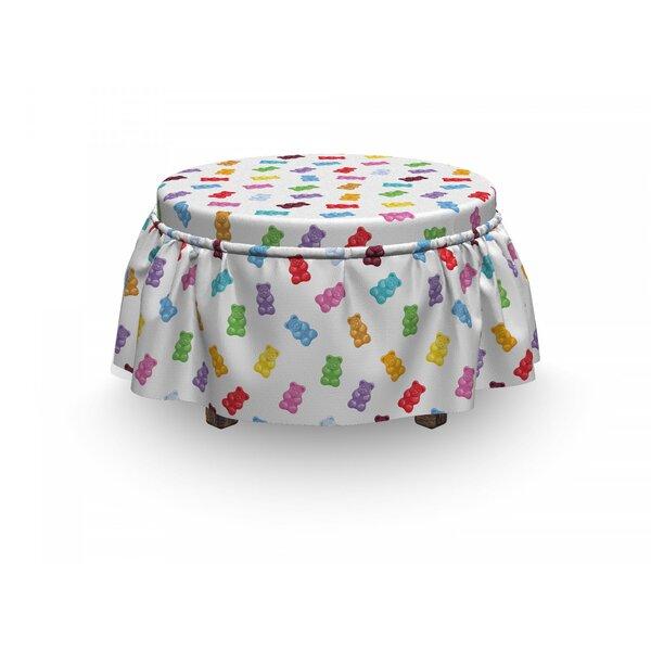 Dessert Vibrant Gummy Bears 2 Piece Box Cushion Ottoman Slipcover Set By East Urban Home