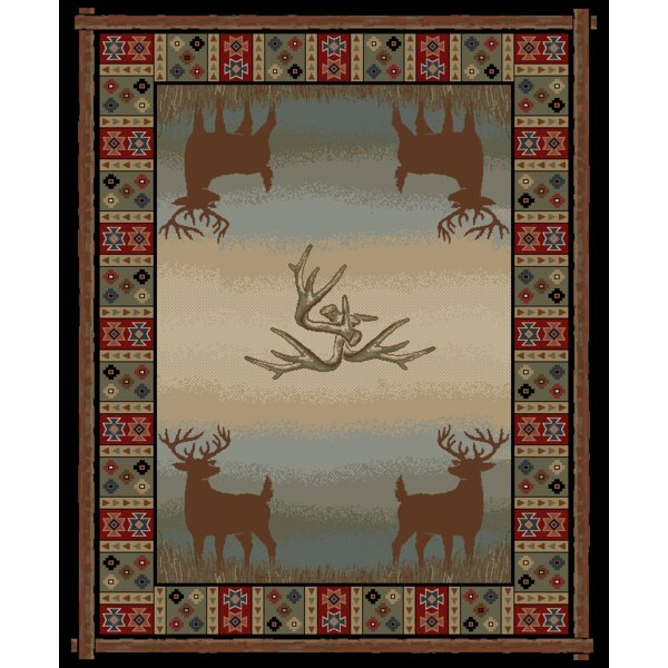 Hearthside Open Range Deer Lodge Multi Area Rug by Mayberry Rug