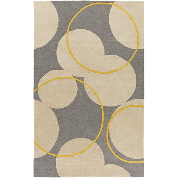 Labarbera Hand-Tufted Gray/Beige Area Rug by Latitude Run