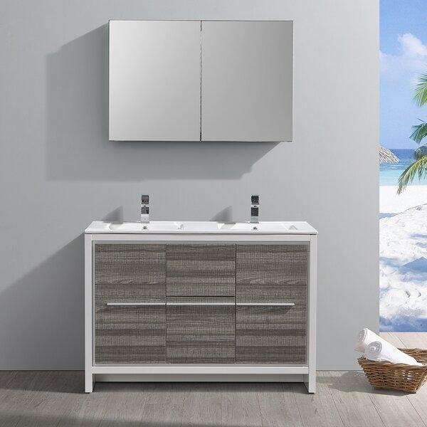 Trieste Allier Rio 47 Double Bathroom Vanity Set with Mirror