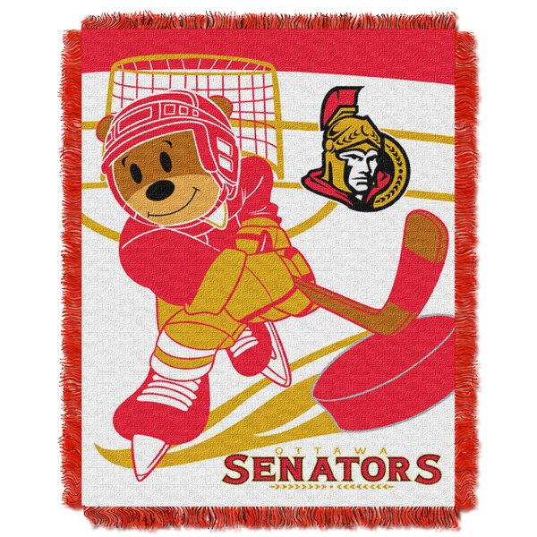 NHL Senators Baby Woven Throw Blanket by Northwest Co.