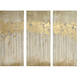 'Sandy Forest' 3 Piece Painting Print Set by Willa Arlo Interiors