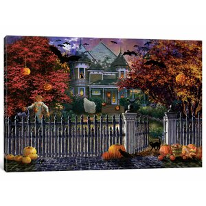 'Halloween House' Painting Print on Canvas by East Urban Home