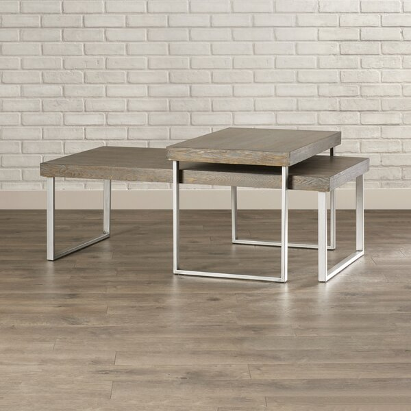 Asine 2 Piece Coffee Table Set by Mercury Row