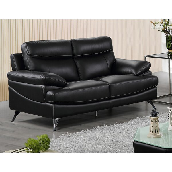 Leather Loveseat By Best Quality Furniture Best Design