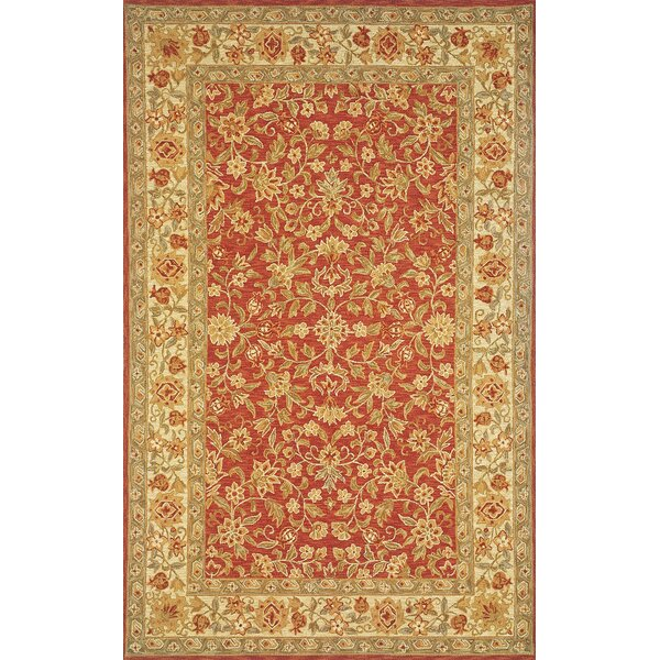 Medford Hand-Hooked Red/Gold Area Rug by Darby Home Co