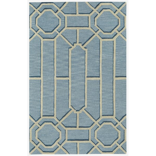Fulcher Ironworks Hand Tufted Pale Blue Area Rug by Everly Quinn