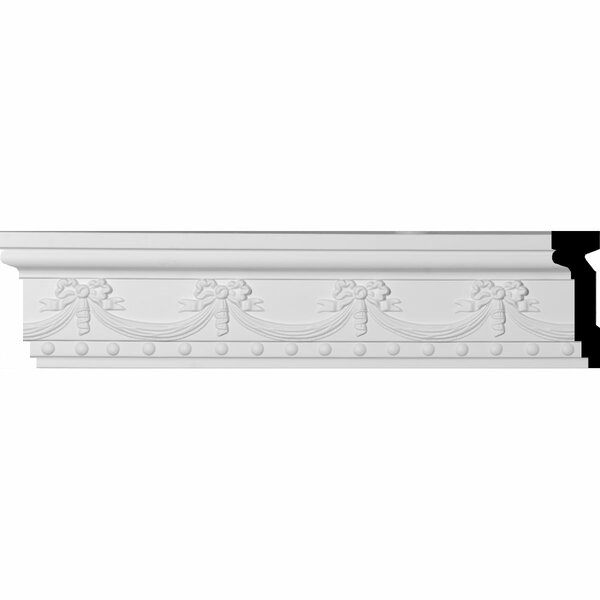 Federal 6 1/4H x 94 1/2W x 2D Swag and Bow Chair Rail Moulding by Ekena Millwork