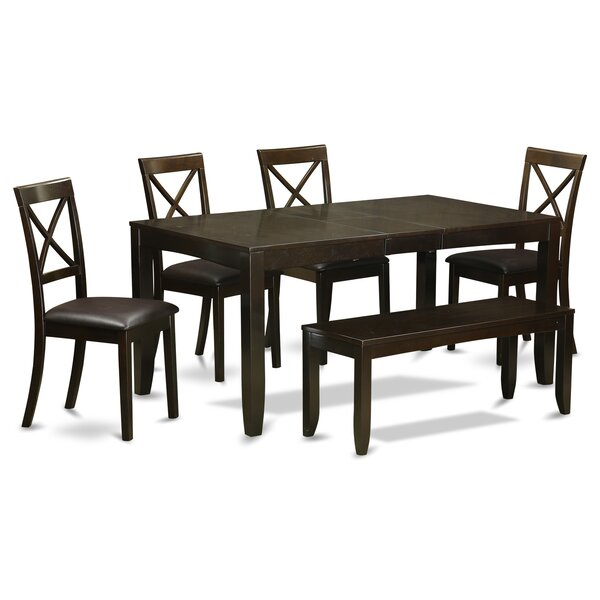 Smithers 6 Piece Extendable Dining Set by Charlton Home Charlton Home