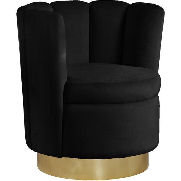 Sonette Swivel Barrel Chair by Everly Quinn Everly Quinn