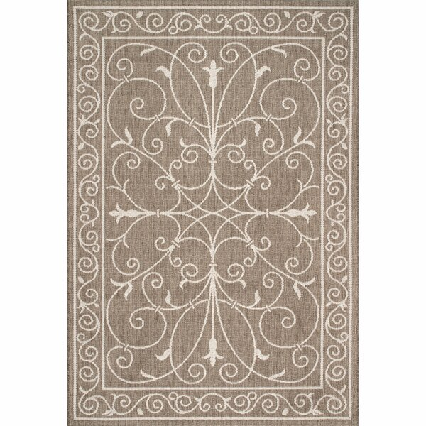 Ulrich Beige Indoor/Outdoor Area Rug by Fleur De Lis Living