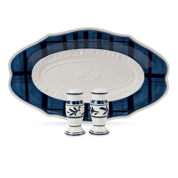 Bristol Oval Tray and Salt and Pepper Set by Fitz and Floyd