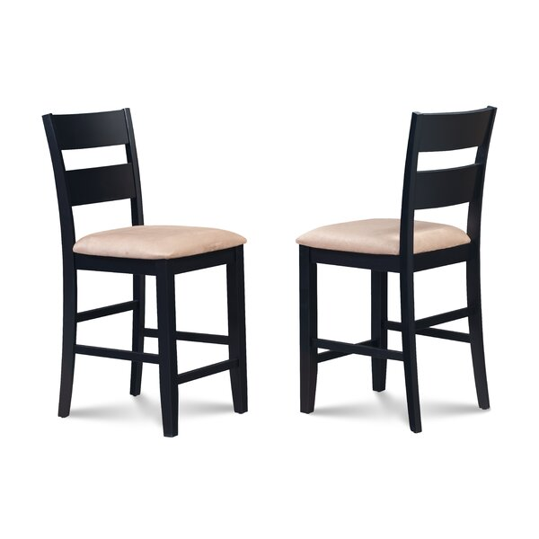 Bennet Upholstered 24 Bar Stool (Set of 2) by Alcott Hill