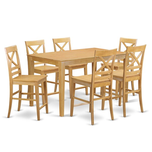 Smyrna 7 Piece Table Dining Set by Charlton Home