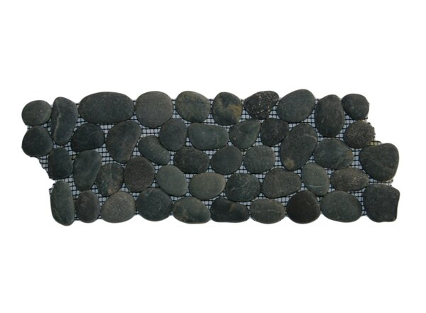 Congo 4 x 12 Natural Stone Border Tile in Black by CNK Tile