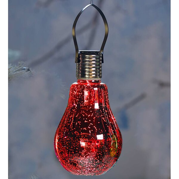 Edison Hanging Mercury Glass Solar Light Bulb by Plow & Hearth