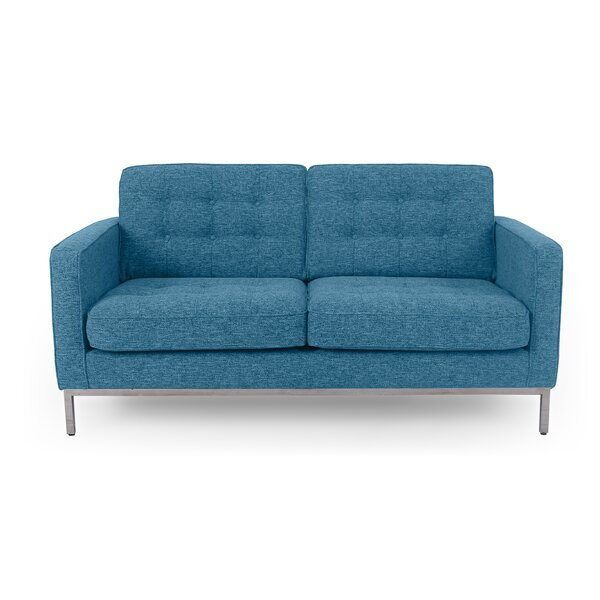 Our Special Agostini Mid-Century Loveseat by Corrigan Studio by Corrigan Studio