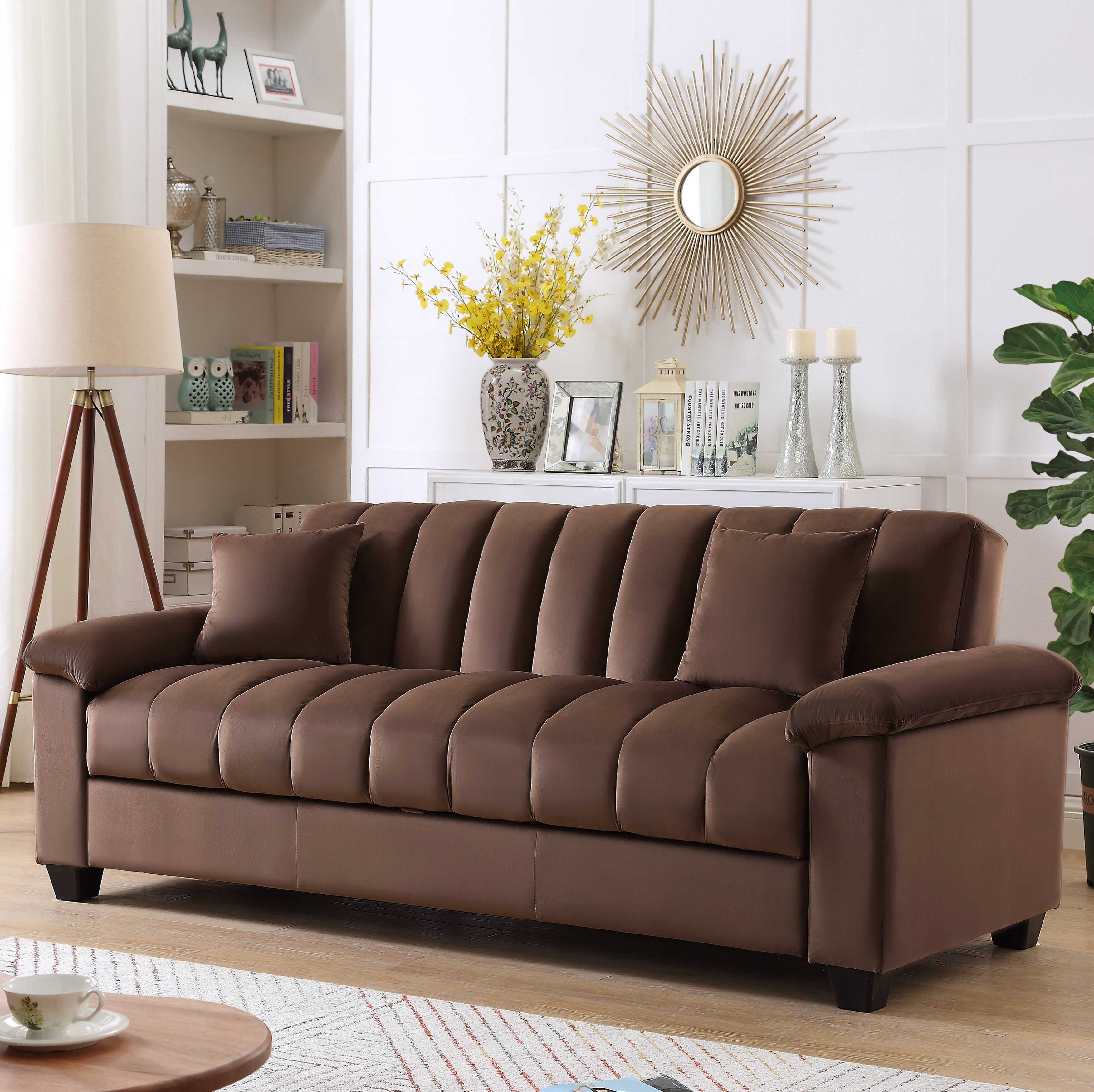 Terrie 83 Pillow Top Arms Sleeper Sofa