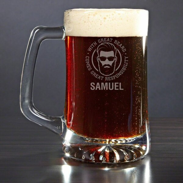 Kagan Great Beard Great Responsibility 25 oz. Glass Pint Glass by Winston Porter