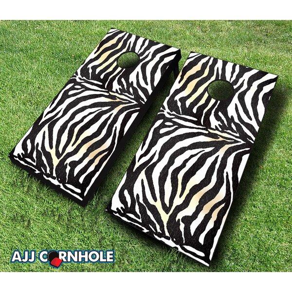 10 Piece Zebra Cornhole Set by AJJ Cornhole