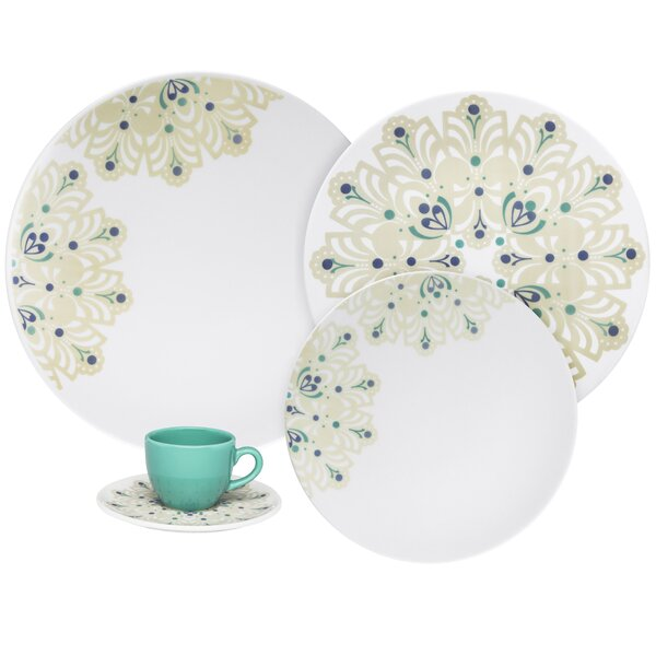 Coup Lindy Hop Bone China 12 Piece Dinnerware Set, Service for 4 by Oxford Porcelain