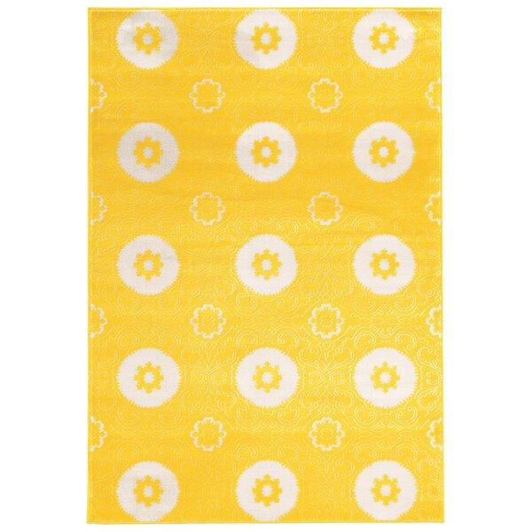 Lucinda Yellow Area Rug by Threadbind