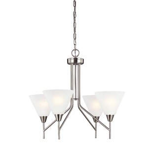 Price comparison Isidore 4-Light Shaded Chandelier By Red Barrel Studio
