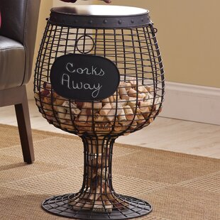 Wine Glass Cork End Table by Wine Enthusiast