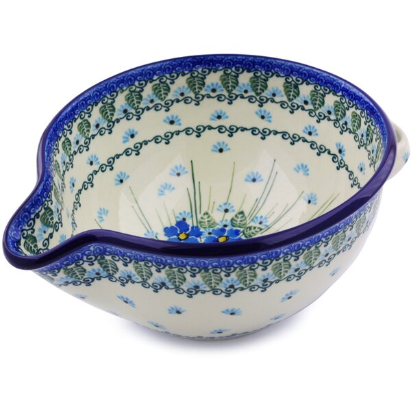 Polish Pottery Batter Stoneware Mixing Bowl by Polmedia