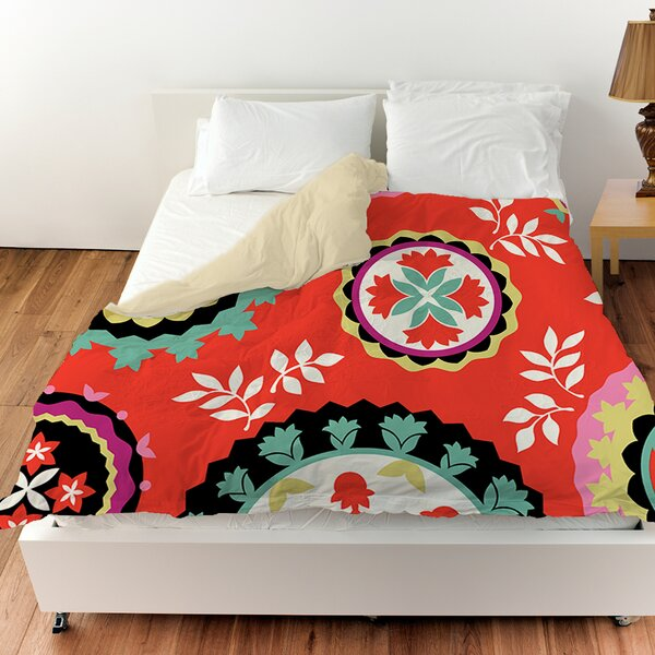 Bird Berries Susani Duvet Cover by Manual Woodworkers & Weavers