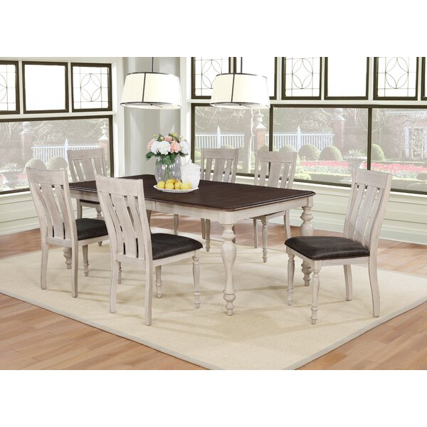 Mixon 7 Piece Solid Wood Dining Set by August Grove