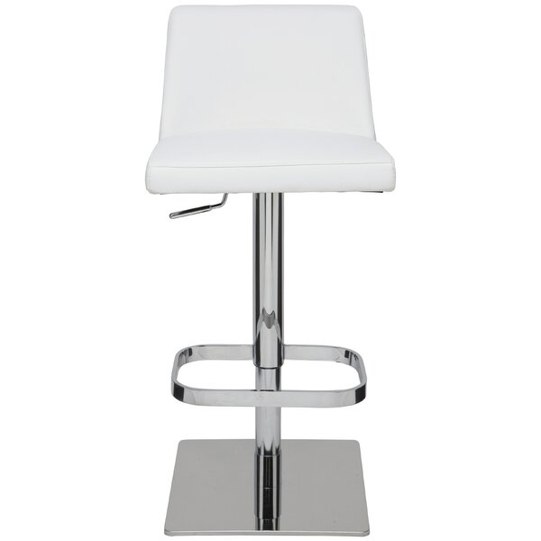 Rome Adjustable Height Swivel Bar Stool by Nuevo