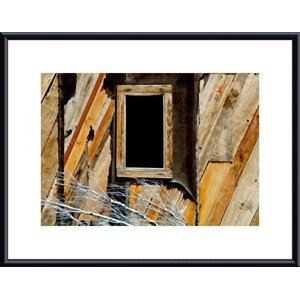 Window and Siding Abstract by John K. Nakata Framed Photographic Print by Printfinders
