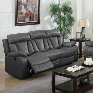 Benjamin Motion Leather Reclining Sofa by Nathaniel Home
