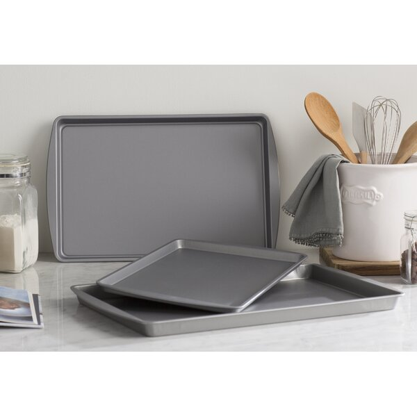 Wayfair Basics 3 Piece Nonstick Cookie Sheets by W