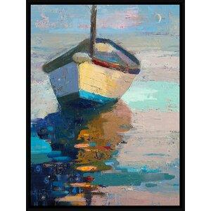 Lap, Lap, Nap, Nap Framed Painting Print by Breakwater Bay