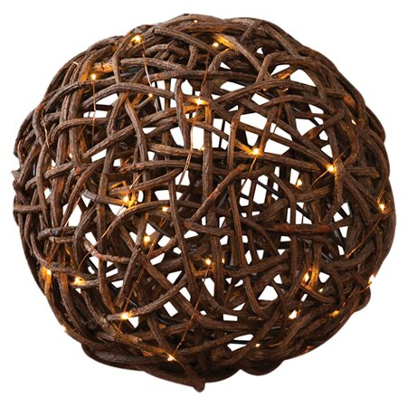 Julia Rattan Ball Sculpture by Evergreen Enterprises, Inc