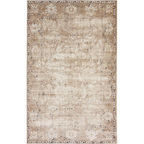 Abbeville Machine Beige Woven Area Rug by Laurel Foundry Modern Farmhouse