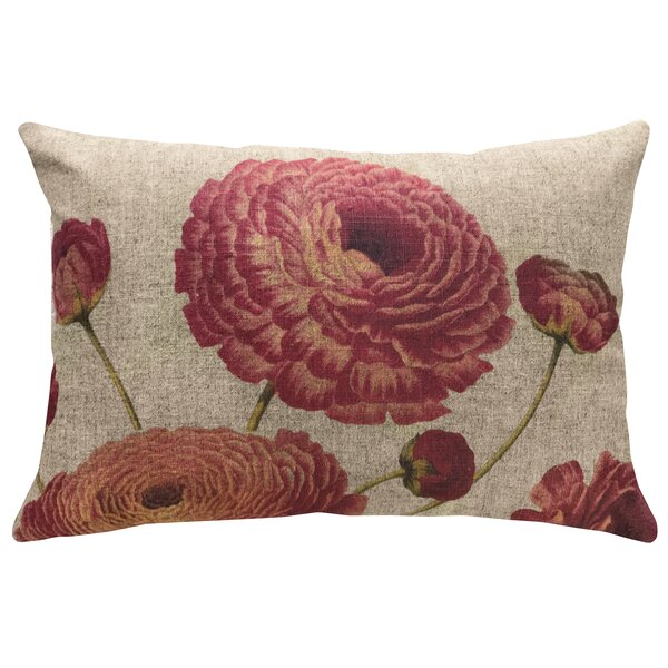 Fermin Floral Linen Throw Pillow by August Grove