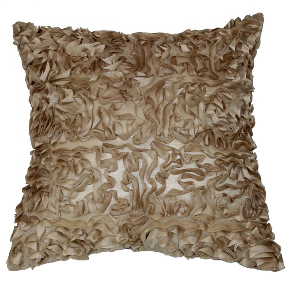 Blanche 3D Design Pillow Cover by House of Hampton