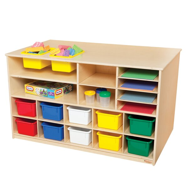 18 Compartment Cubby with Trays by Wood Designs