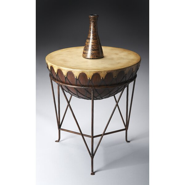Brodie Drum End Table by World Menagerie
