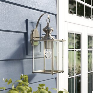 Online Reviews Burrows 1-Light Outdoor Wall Lantern By Darby Home Co