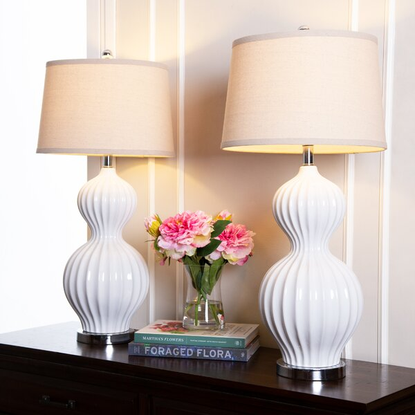 Eastbourne 32 Table Lamp (Set of 2) by Highland Dunes
