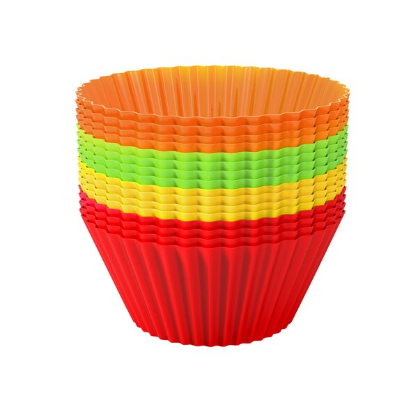 Non-Stick Silicone Baking Cupcake (Set of 24) by Chef Buddy