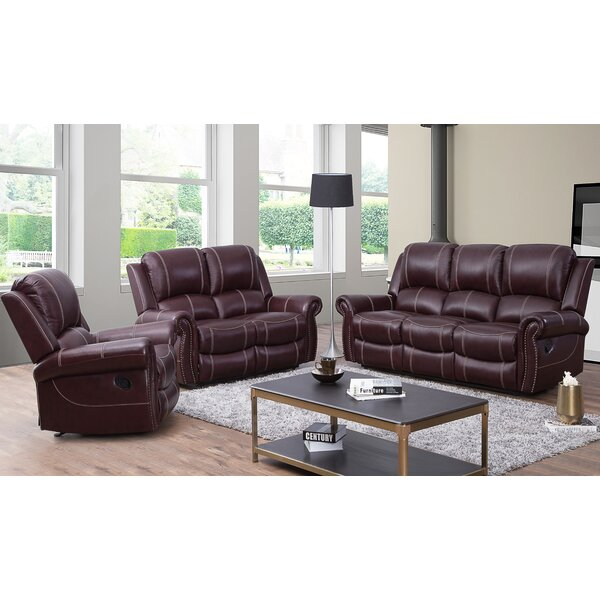 Lopp 3 Piece Leather Reclining Living Room Set by Red Barrel Studio