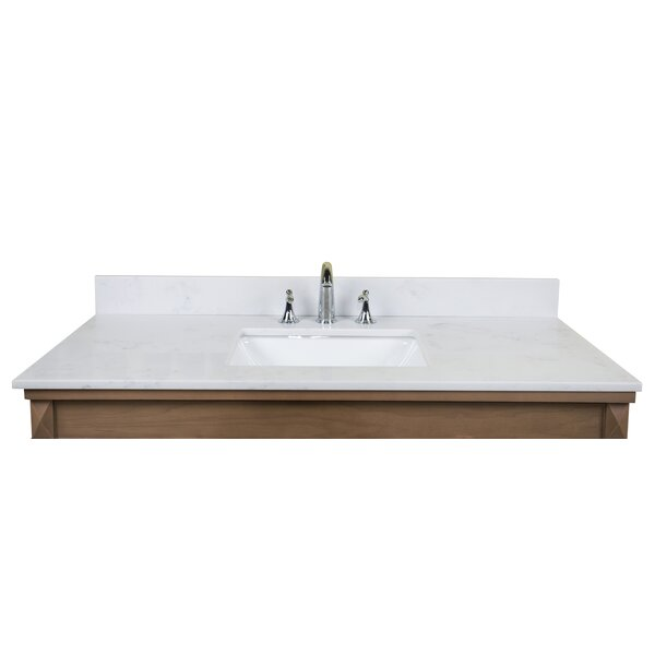 Carrara Quartz 49 Single Bathroom Vanity Top by Re